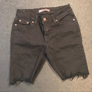 Levi's black Jean cut off Shorts XS 24